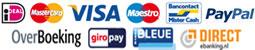 Betaal met iDEAL, Paypal, MisterCash