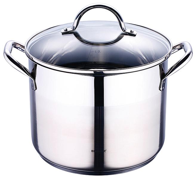Bergner RVS kookpan met deksel (8,2 liter)