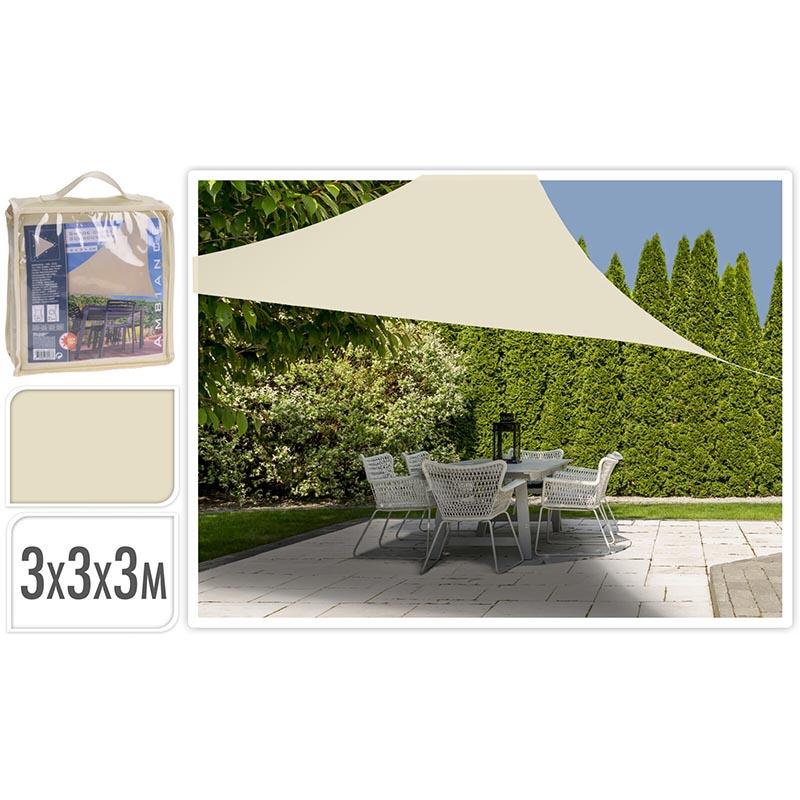 Schaduwdoek driehoek 3x3x3m - off white