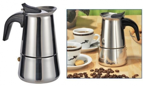 Schitterend RVS design espresso maker