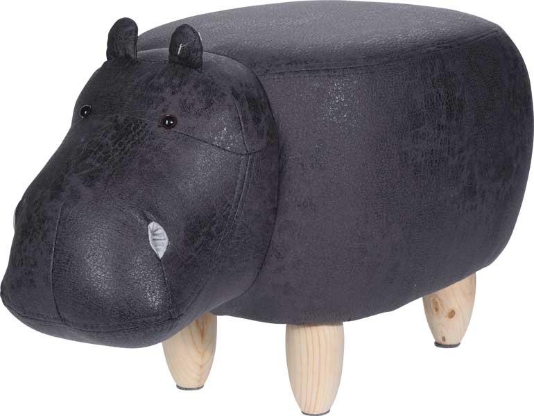 Poef nijlpaard - voetenbank