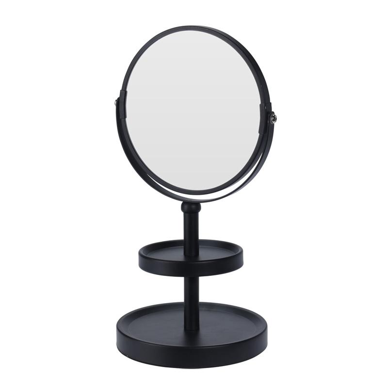 Make-up spiegel - dubbelzijdig - vergrotend - zwart