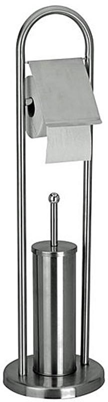 Toiletrolhouder met toiletborstel RVS design