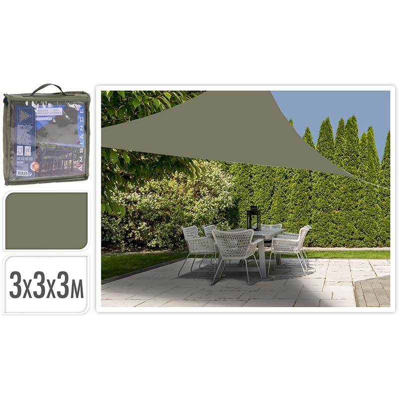 Schaduwdoek driehoek 3x3x3m - groen