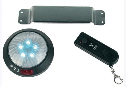 Een 12 cm LED lamp met 5 LED's en ab
