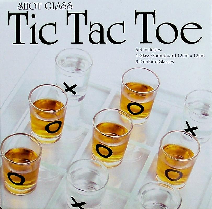 Mini Shot glaasjes spel Tic Tac Toe