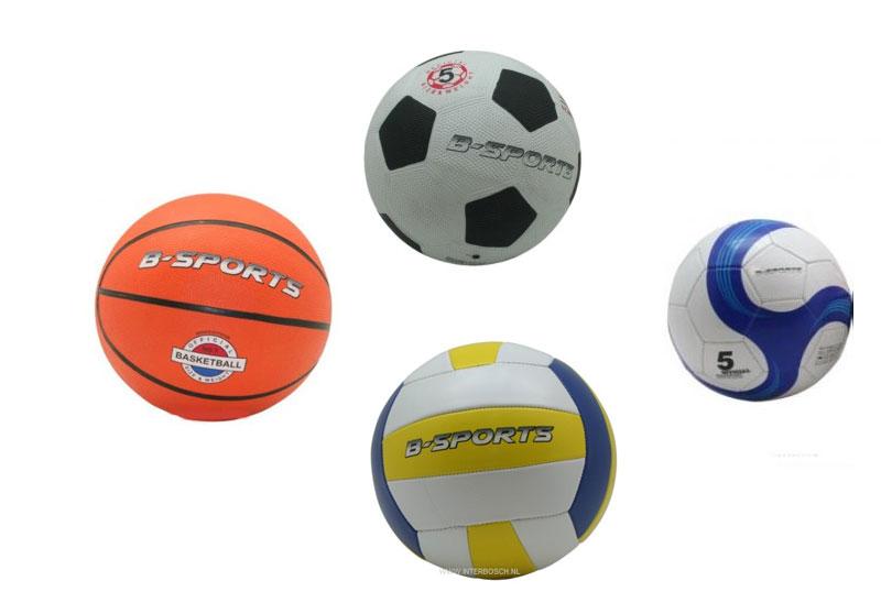 Ballenset, vier sportballen in 1 set