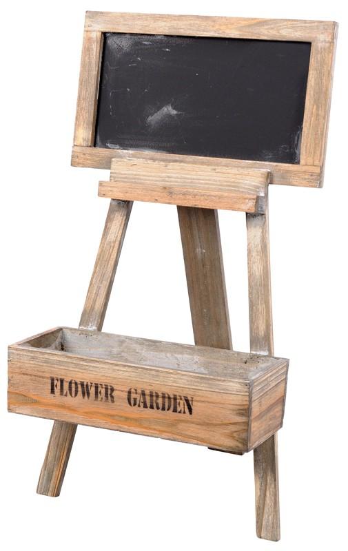 Bloemenstandaard met krijtbord