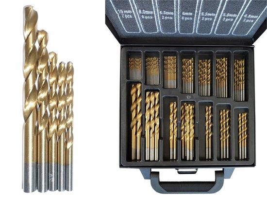 101 Delige Titanium borenset in coated koffer