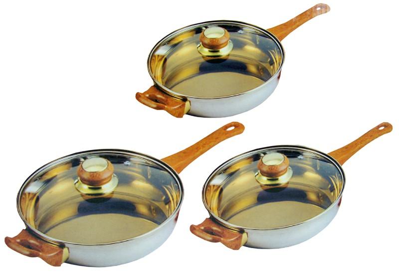Set van drie braadpannen topkwaliteit voor een topprijs