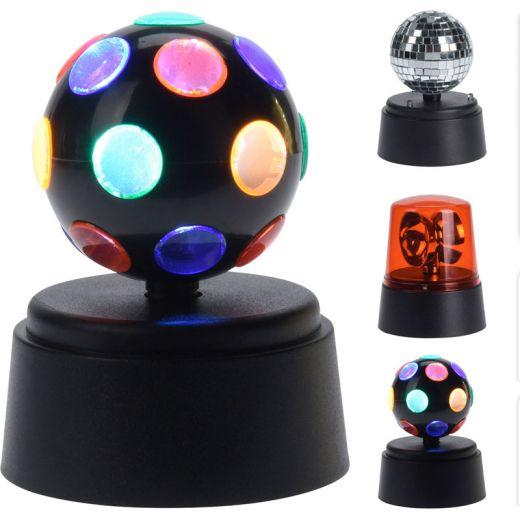 Draaiende discolampen 3 stuks
