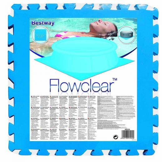 Vloertegels 9 stuks voor zwembad ondervloer en pad