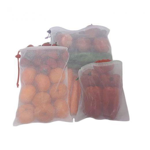 Duett Herbruikbare Fruit- en Groentezakjes - Polyester - 6 stuks