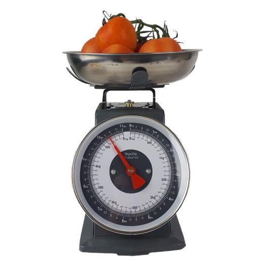 Retro Keukenweegschaal - 5 KG - Grijs