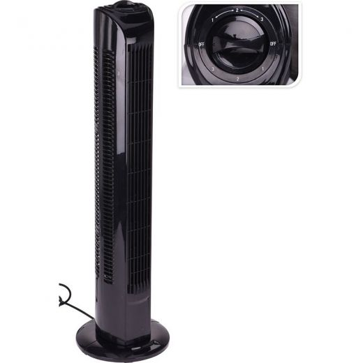 Torenventilator - 80cm - zwart