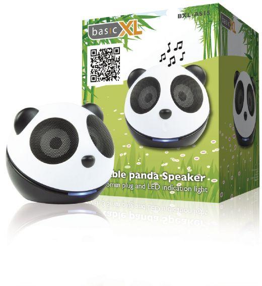 Draagbare panda speaker voor MP3-speler of telefoon