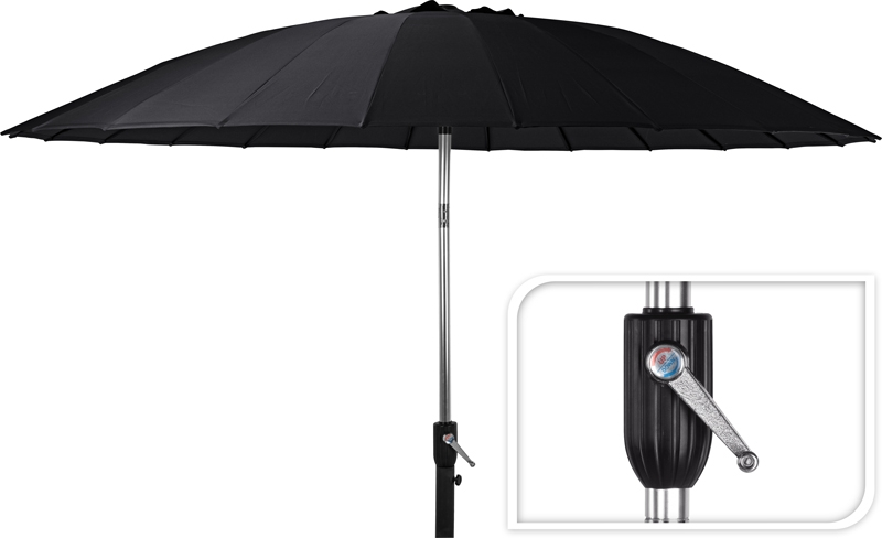 Parasol Shanghai - 270cm - zwart