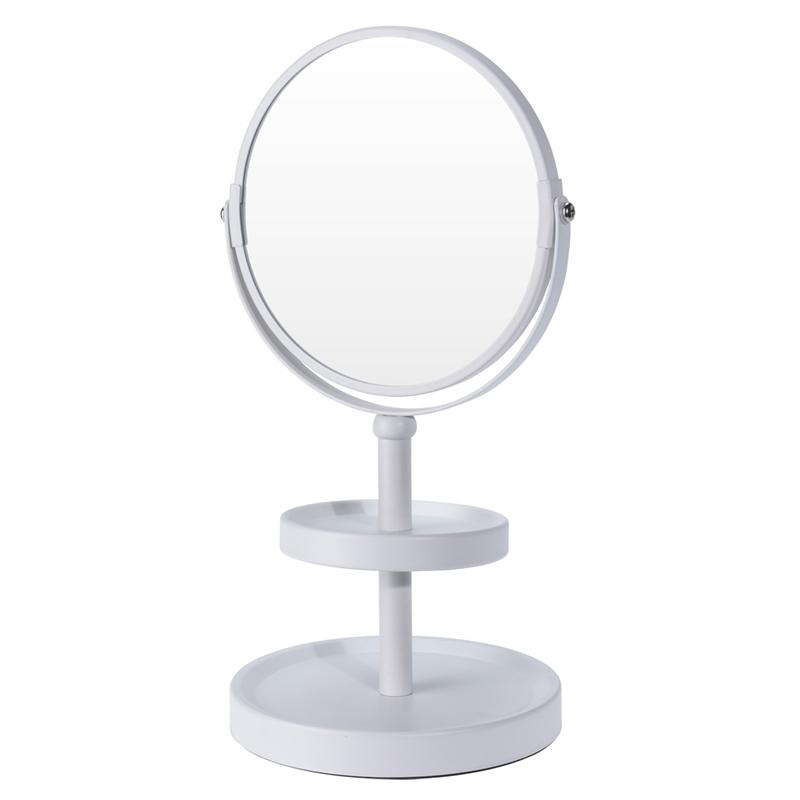 Make-up spiegel - dubbelzijdig - vergrotend - wit