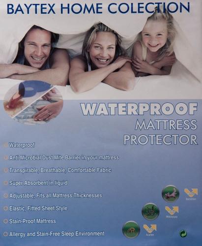 Waterdichte matras beschermer 1 persoons uitvoering.
