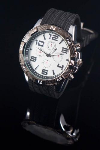 Heren sport horloge. wit