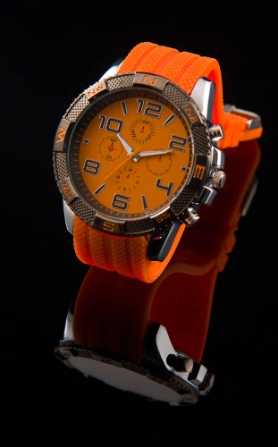 Heren sport horloge.oranje
