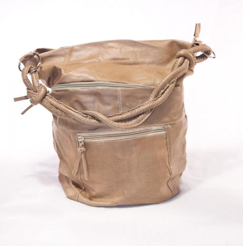 design dames tas lichtbruin