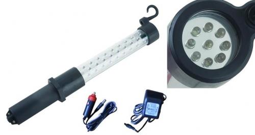 Oplaadbare LED loop-/zaklamp (27 + 9 HI power leds) vanaf 17,50