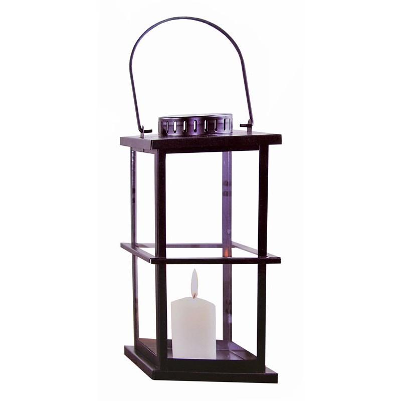 Metalen lantaarn van 27 cm