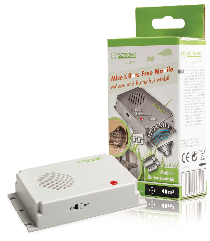 Muizen- en Rattenverjager 12 - 24 kHz - tegen de muizenplaag