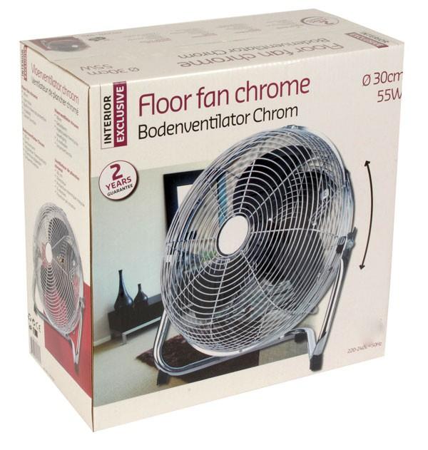 Interior Exclusive Vloerventilator (chroom)