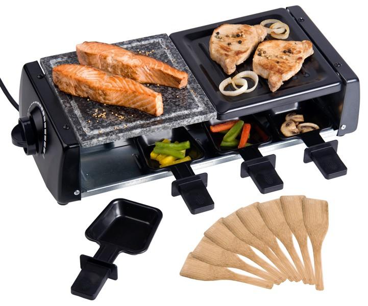 Deluxe Raclette, steengrill en gourmet