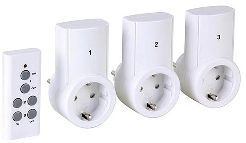 Stopcontacten met afstandsbediening (set van 3)