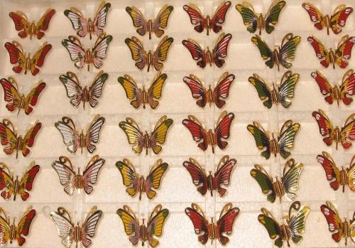 6 decoratieve vlinders