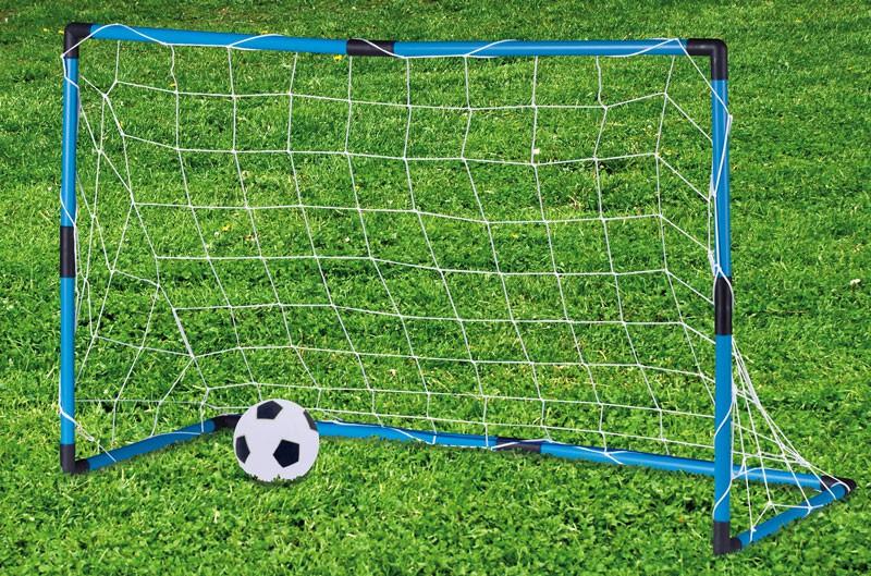 Draagbaar voetbaldoel met bal